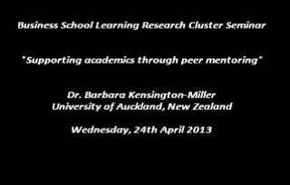 Supporting academics through peer mentoring