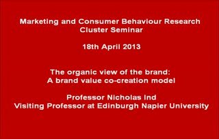 Professor Nicholas Ind - The organic view of the brand