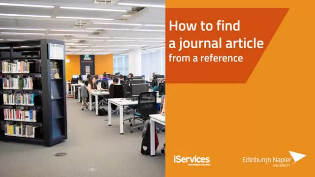How to find a journal article from a reference