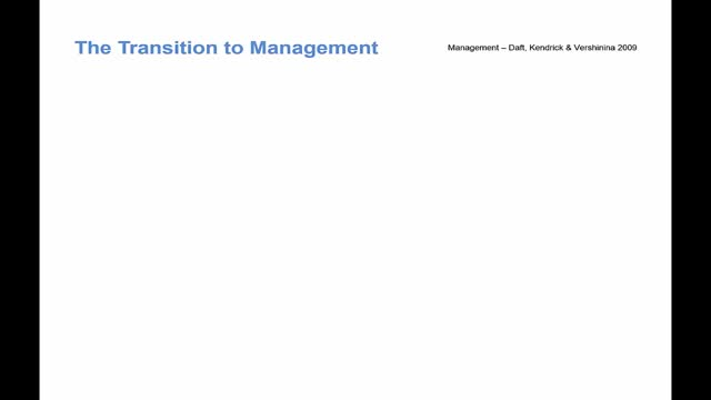 BMC Revision - Transition to Management
