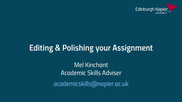Editing and Polishing Your Assignment