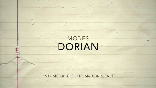 Major Modes_Dorian