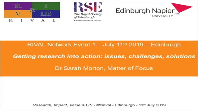 02 Sarah Morton - Getting research into action
