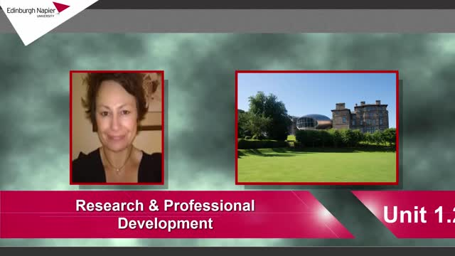 Research and Professional Development 1.2
