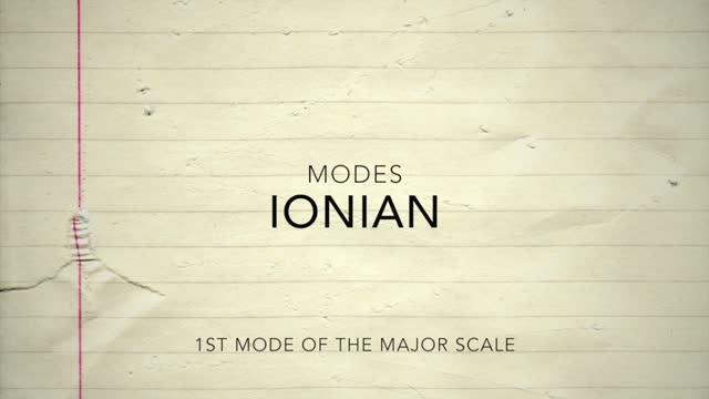 Major Modes_Ionian