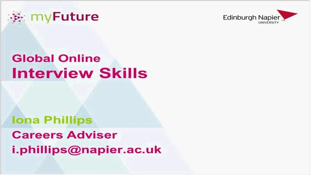 Careers Planning - Interview Skills - Iona Phillips