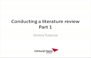 Conducting a literature review: Part 1