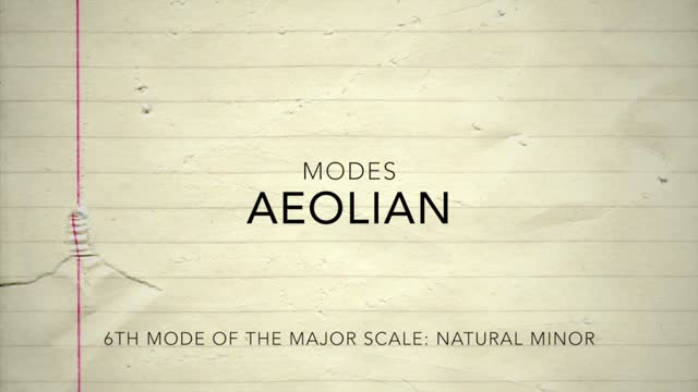 Major Modes_Aeolian