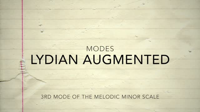 Melodic Minor_Lydian Augmented
