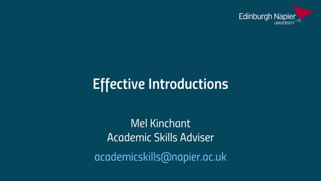 Effective Introductions