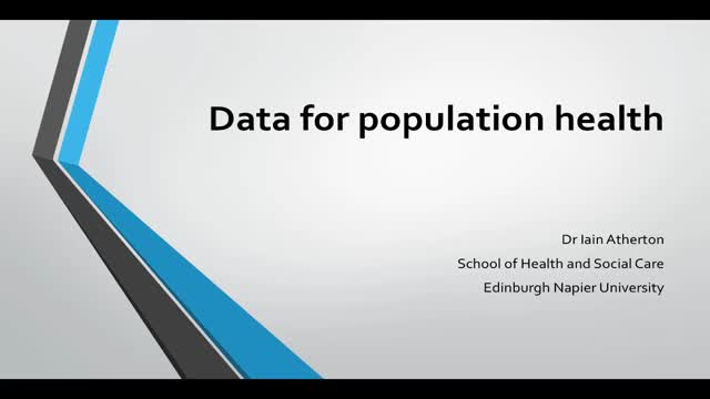Data for population health