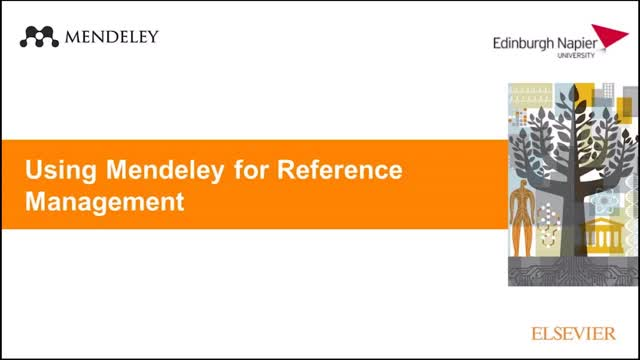 Using Mendeley for Reference Management (15/10/2019)