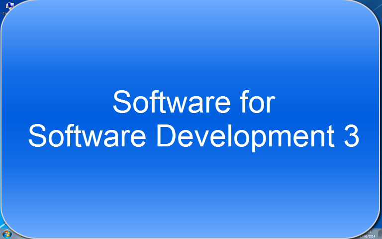 Software for Software Development 3