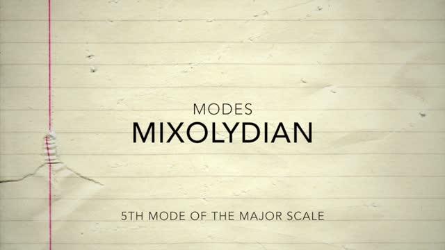 Major Modes_Mixolydian