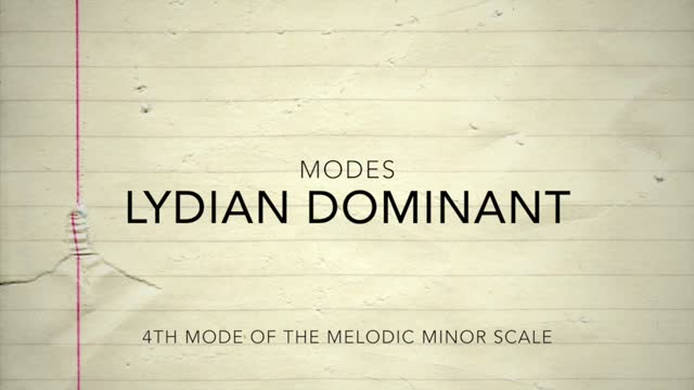 Melodic Minor_Lydian Dominant