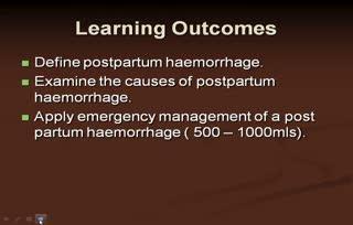 Primary Postpartum Haemorrhage