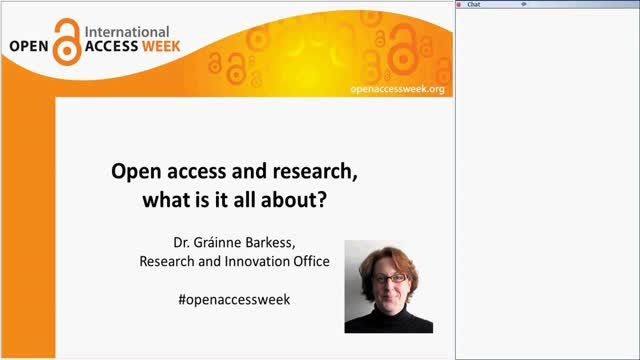 Open access and research, what is it all about? WebEx seminar