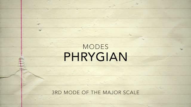 Major Modes_Phrygian