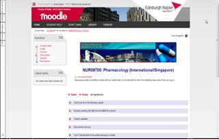 Pharmacology NUR09700: Module tour 2013