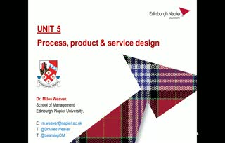 Unit 5 Process and Product Design