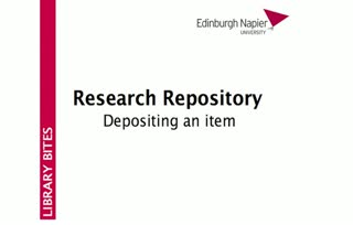 Research Repository - Depositing an item