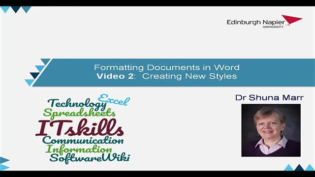 How to Format Word Video 2 New Styles
